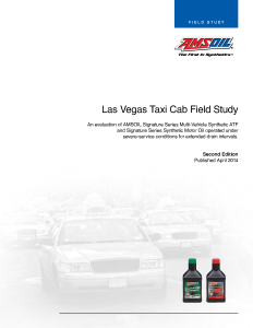 AMSOIL Taxi Field Study